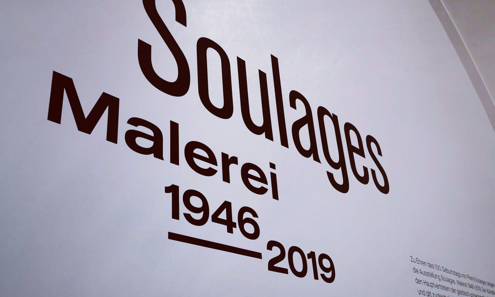 Soulages - Malerei 1946 - 2019